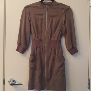 Marciano khaki zip up dress